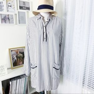Anthropologie Lilka Striped Tunic Dress/Cover Up